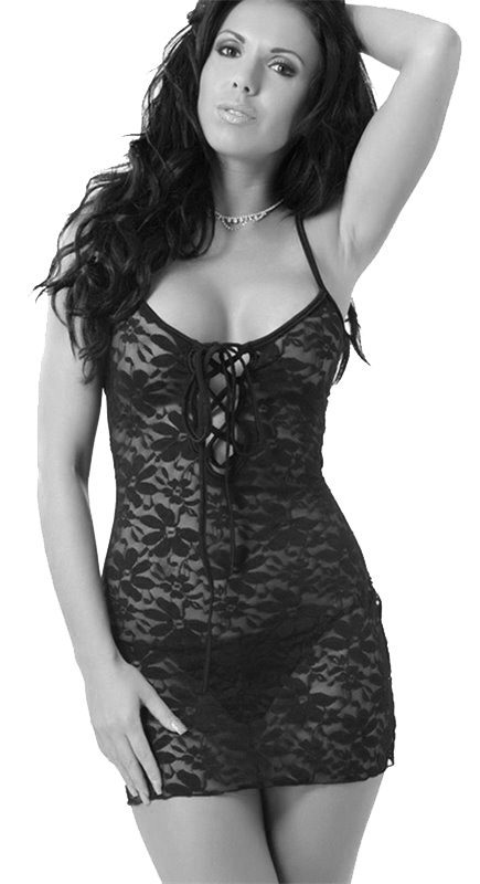 Ruth went to her bedroom and changed her clothes into a sexy, short, lace dress